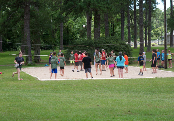 """""""beach volleyball"""" at Camp Pearl"""